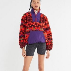 Urban Outfitters Quarter Zip Sherpa Pullover